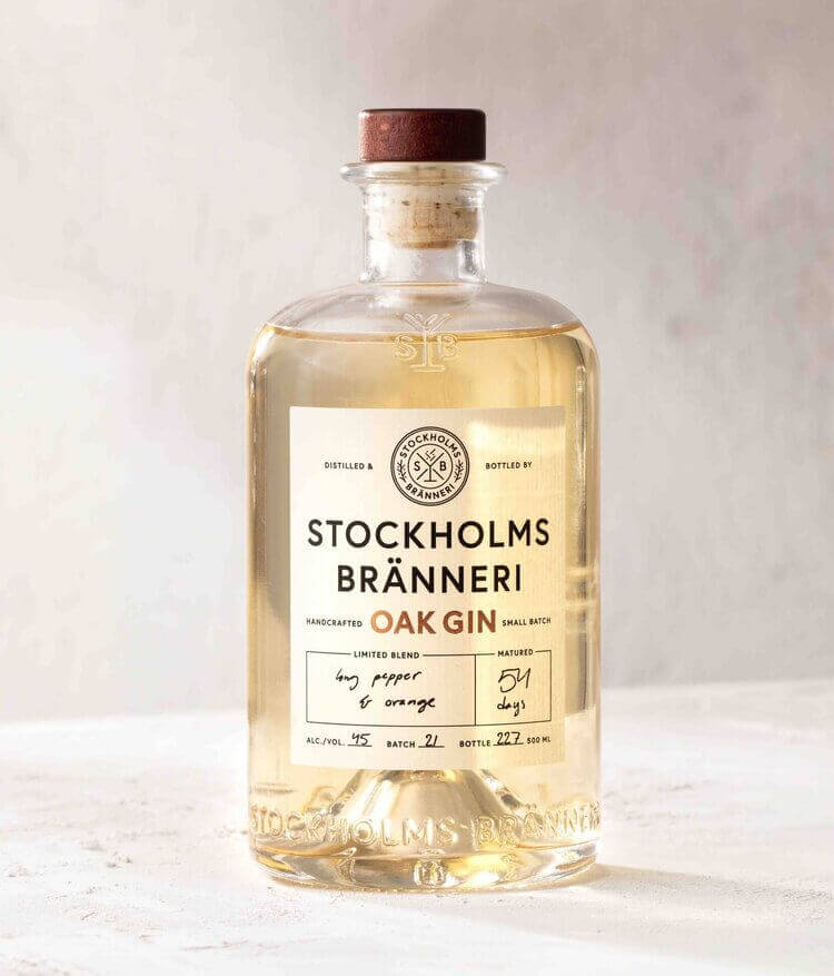 Stockholm bränneri oak gin